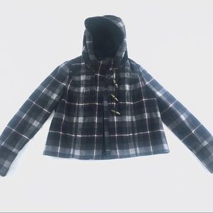 A&F Hoodie Tartan Jacket